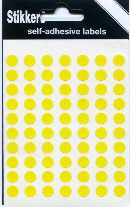 490 x  Map Stickers 8mm YELLOW